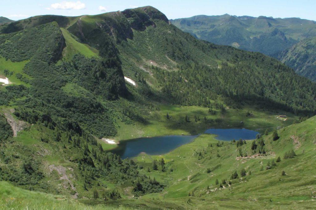 lI laghi visti dal passo di Brealone