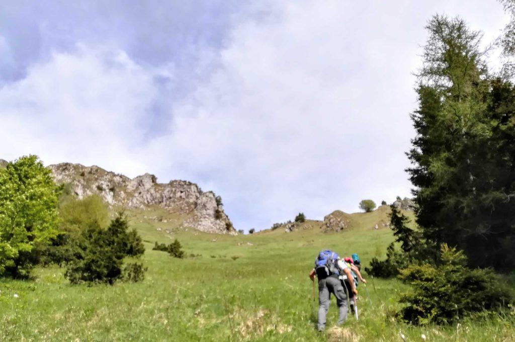 Salita faticosa serso il sentiero proveniente dal bivacco Tita Secchi e diretto alla cima