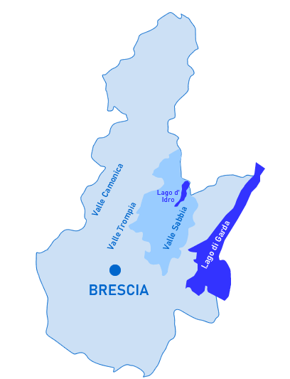 Inquadramento della V. S. nella Provincia di Brescia