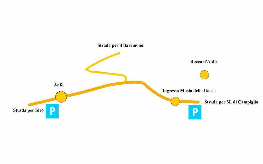 mappa schematica per localizzare la Rocca