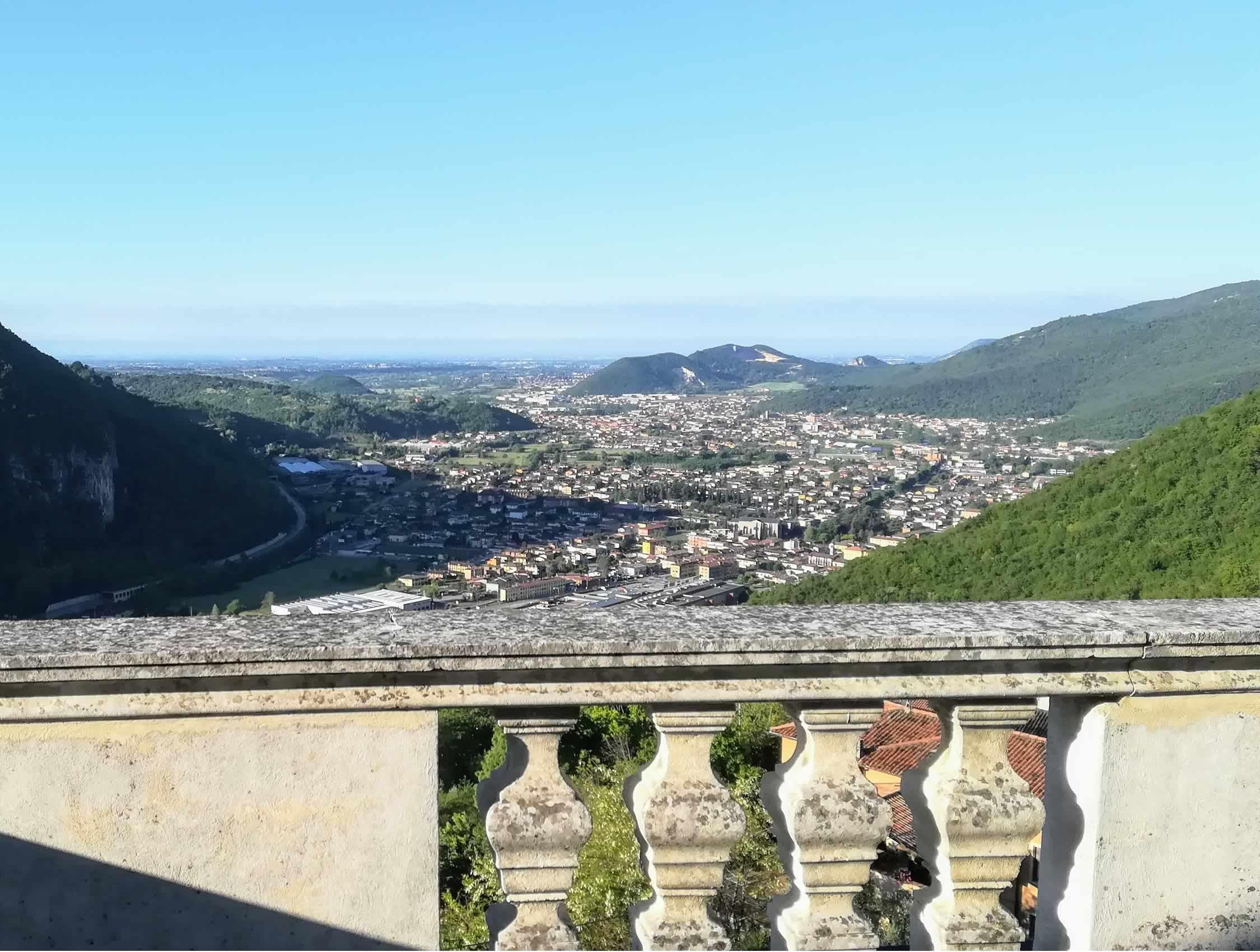 panoramica su Gavardo e Villanuova s/c