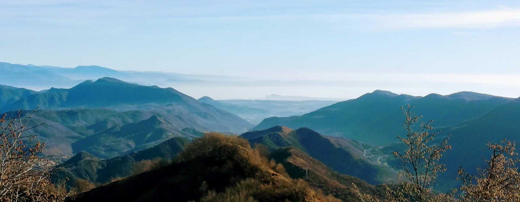 panorama della valle verso sud