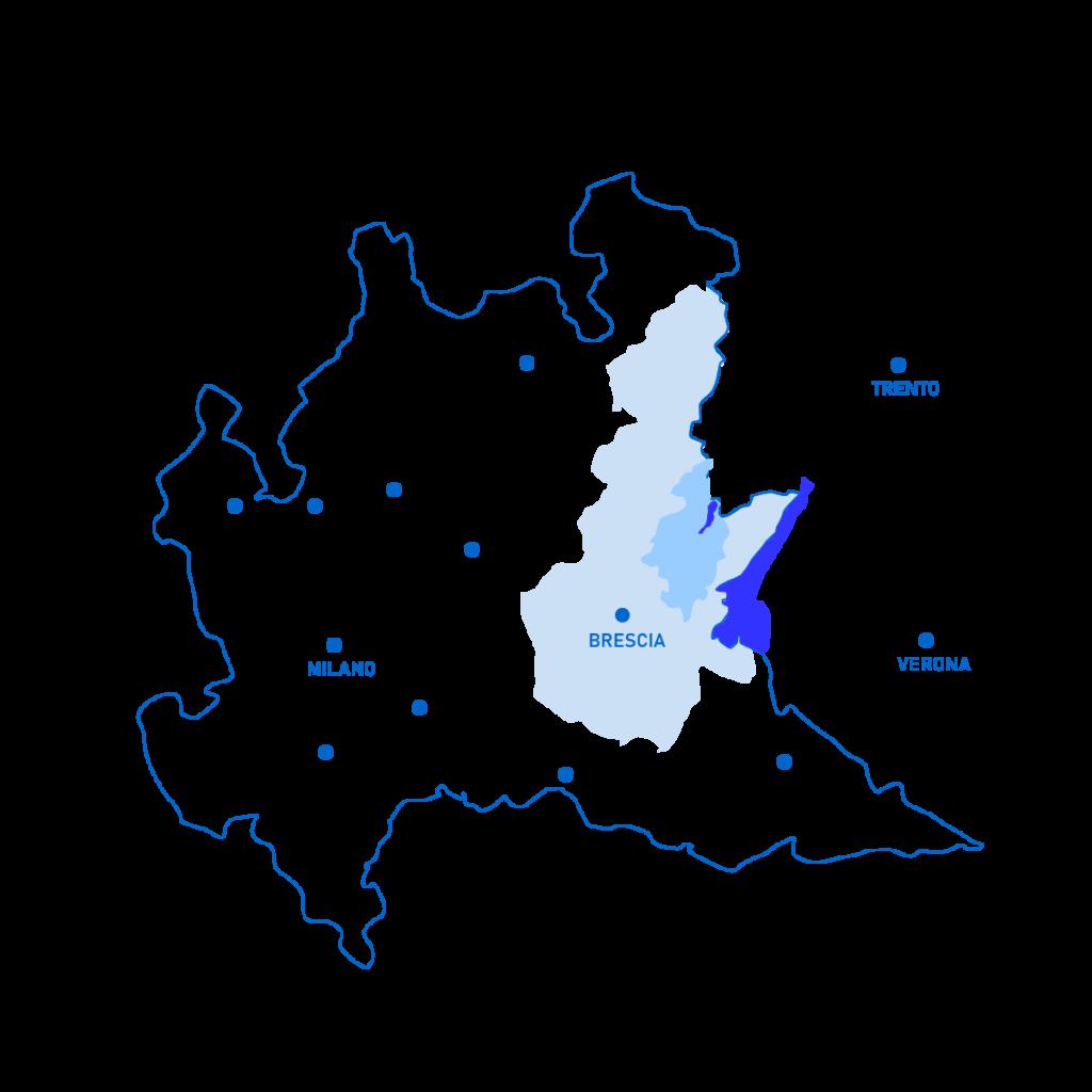Limiti della Valle Sabbia nella Lombardia