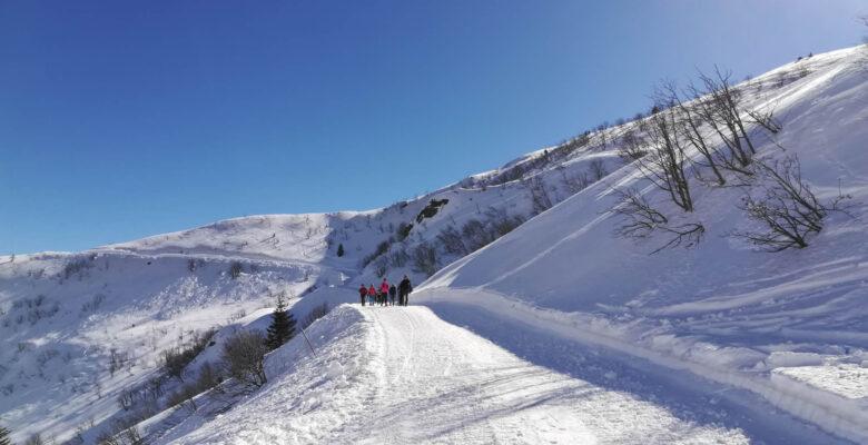 Lungo la pista da sci