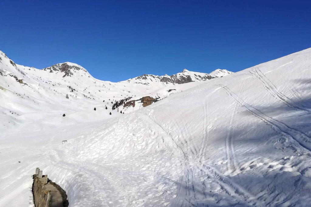 Bivio sulla destra per la Val Cadino