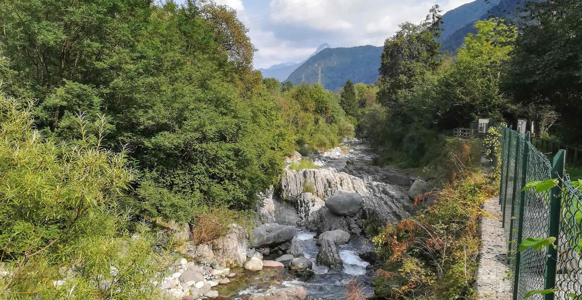 Il torrente Caffaro visto dal ponte Romanterra