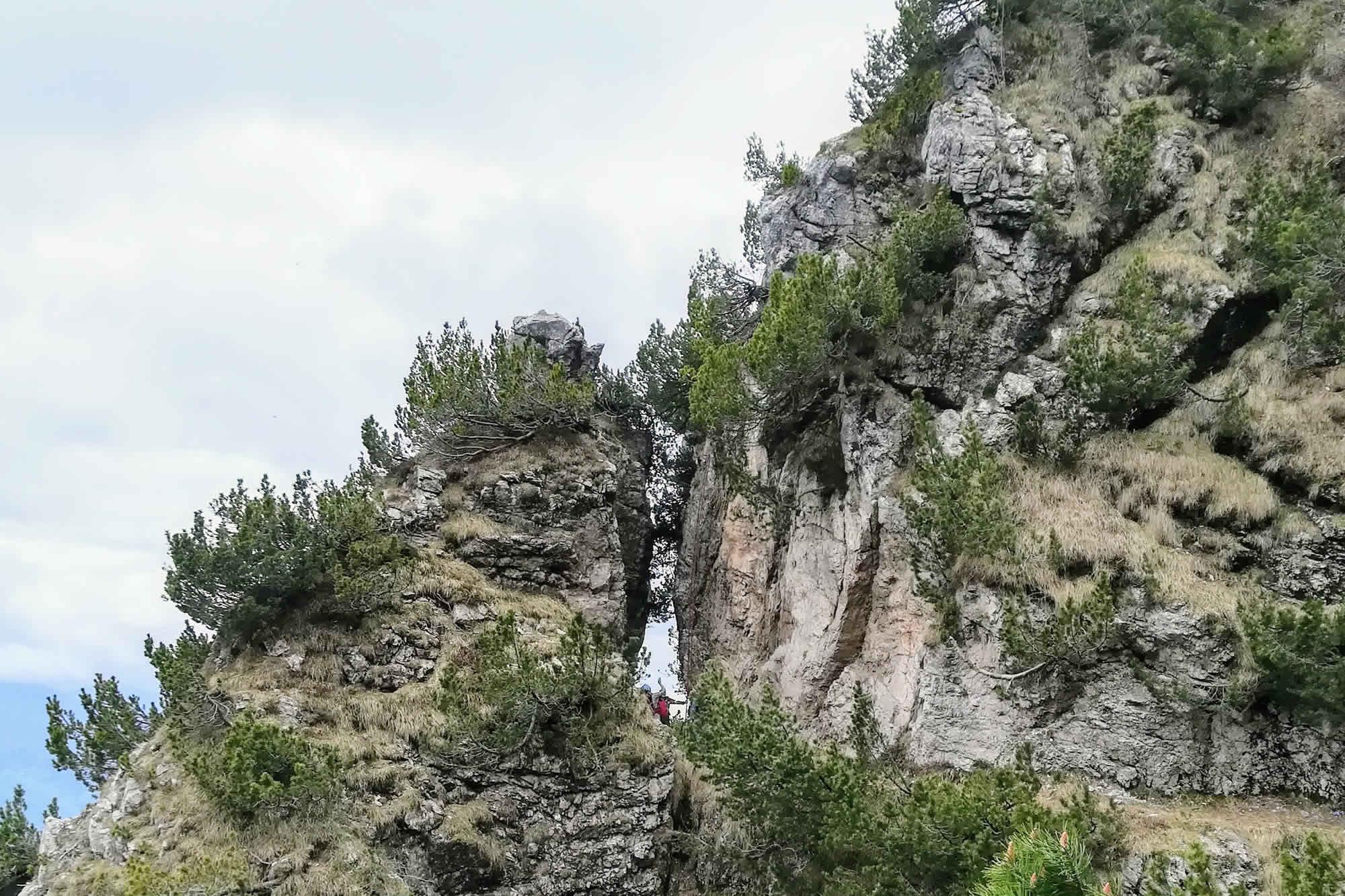 Caratteristico spacco di roccia