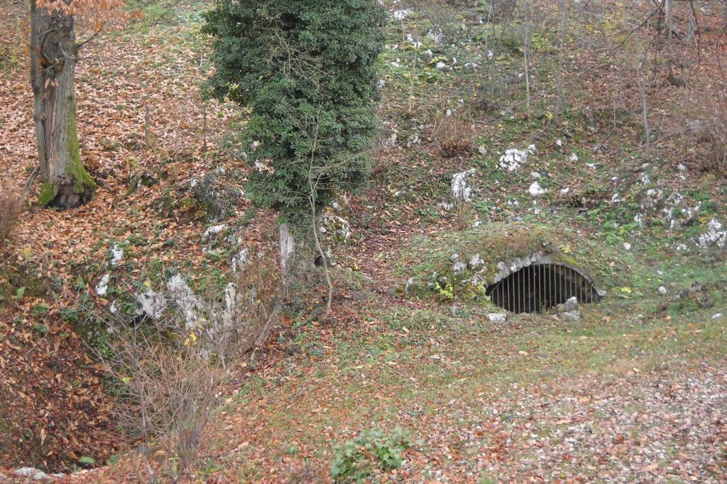ingresso della grotta Bus del Lat
