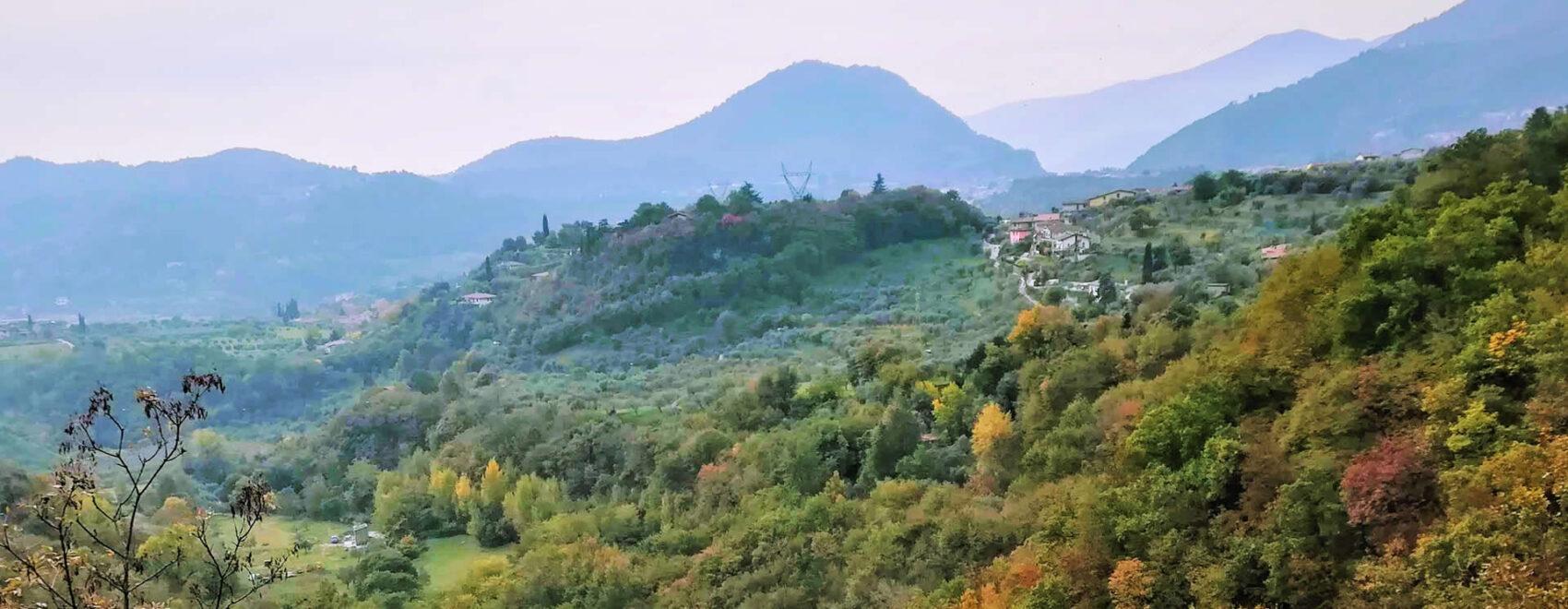 Panorama sulla valle del Rio